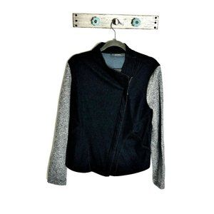 Lisa Rinna Collection S Asymmetrical Blue Jacket